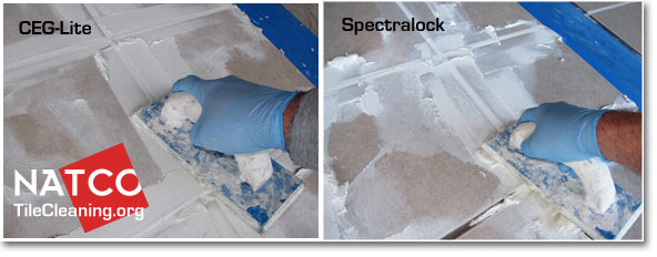 applying ceg-lite and spectralock epoxy grout