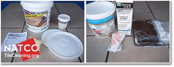 contents of ceg-lite and spectralock stainproof epoxy grouts