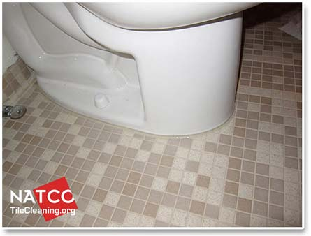toilet with new caulking applied