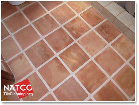 How to clean a saltillo tile floor for How to clean unsealed grout