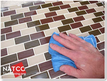 removing grout dye haze off of tiles