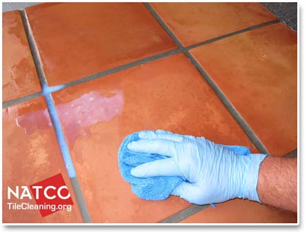 removing excess grout renew colorsealer