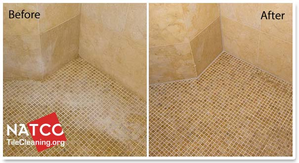 cleaning and restoring limestone shower