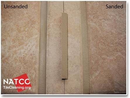 tec light buff sanded vs unsanded grouts